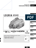 Legria HV40 IB ENG Manual
