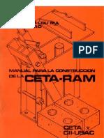 MANUAL PARA LA CONSTRUCCIÓN DE LA CETA-RAM (1981)