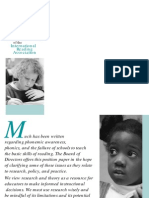 Phonemic Awareness and the Teaching of Reading