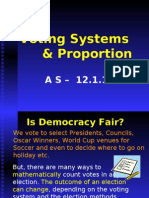 Proportion & Voting Systems Lo 12.1.1