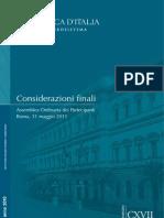 Cf10_considerazioni_finali 2010 (Il Mondo Dopo La Crisi, Economia Italiana e Crescita)