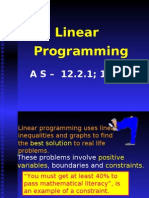 Linear Programming as 12.2.1 12.2.2