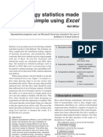 Biology Statistics Made Simple Using Excel