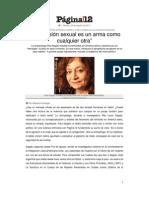 Rita Segato (Pag.12)-Femicidios