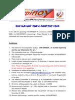 Sulyapinoy Poem Contest Guidelines