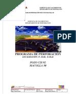 Programa de Perforación CIS-92