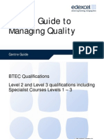 Centre Guide to Managing Quality