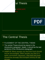 Unit 1-The Central Thesis