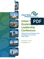 2010 Urban Water Sustainability Leadership Conference