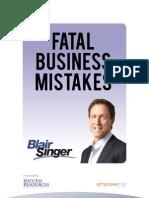 Blair eBook Fatal Business Mistakes