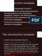 Unit 18- The Introduction Template