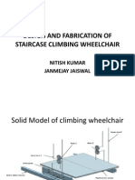 Design and Fabrication of Staircase Climbing Wheelchair