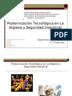 Modernizacion Tecnologica en La Higiene y Seguridad Industrial Cesar Rada