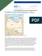 Profile of an Oil Producer Libya