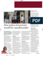 New police riot powers would be 'unenforceable' | Big Issue in the North