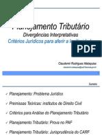 Dr. Claudemir Malaquias - O Planejamento tributário CARF