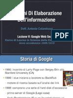 Sistemi Lezione v Google Web Search