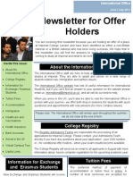 June July 2011 IO Newsletter for Offer Holders