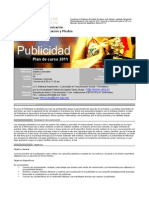 Plan de curso Publicidad 2011