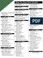 2011 Horse Schedule