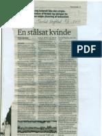 En stålsat kvinde, Egon Bennetsen 08.08.2011 Thisted Dagblad