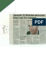 Søvndal til Østerild aktivister. kravl ned fra træerne, Knud Brix,  Jyllandsposten 06.08.2011