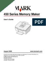 Lexmark 450 Series Memory Maker