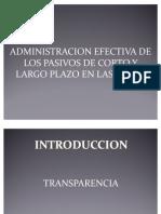 Presentación Administracion de Pasivos Largo Plazo