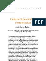 Culturas/tecnicidades/comunicación