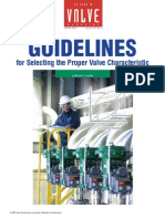 Guidelines for Selecting the Proper Valve Characteristic