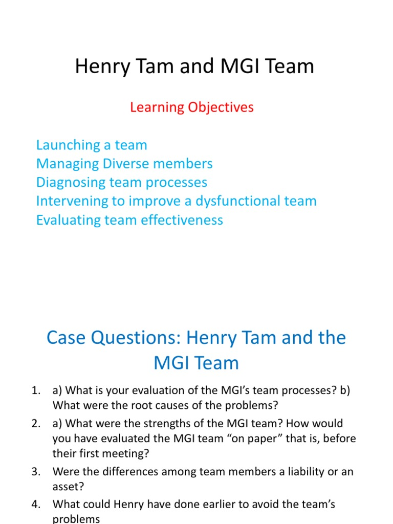 henry tam and the mgi team hbr