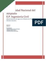 Informe Parcial Abastecimiento de Agua y Alcantarillado