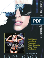 (Sheet Music - Piano) - Lady Gaga - Just Dance Easy Keyboard