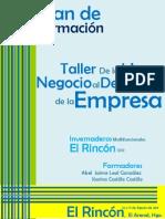 Plan de Formación (Desarrollo de Empresas-El Rincon)