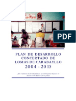 Plan de Desarrollo Concertado de Lomas De Carabayllo al 2015