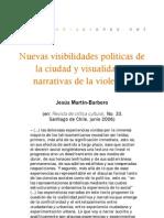 Nuevas visibilidades políticas de la ciudad y visualidades narrativas de la violencia