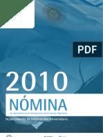 Nómina_de_Autoridades Universitarias Argentinas 2010