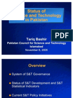 Pakistan Status of S & T in Pakistan