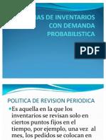 Sistemas de Inventarios Con Demanda Probabilistica