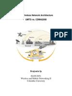 Telco - 3G Wireless Network Architecture UMTS vs CDMA2000