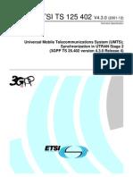 UMTS Synchronization ETSI