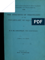 MacGillivray. The influence of Christianity on the vocabulary of Old English. 1902.