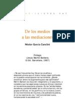 De los medios a las mediaciones - Prólogo García Canclini