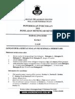 Kertas percubaan PMR KL BI 2011 (P1)