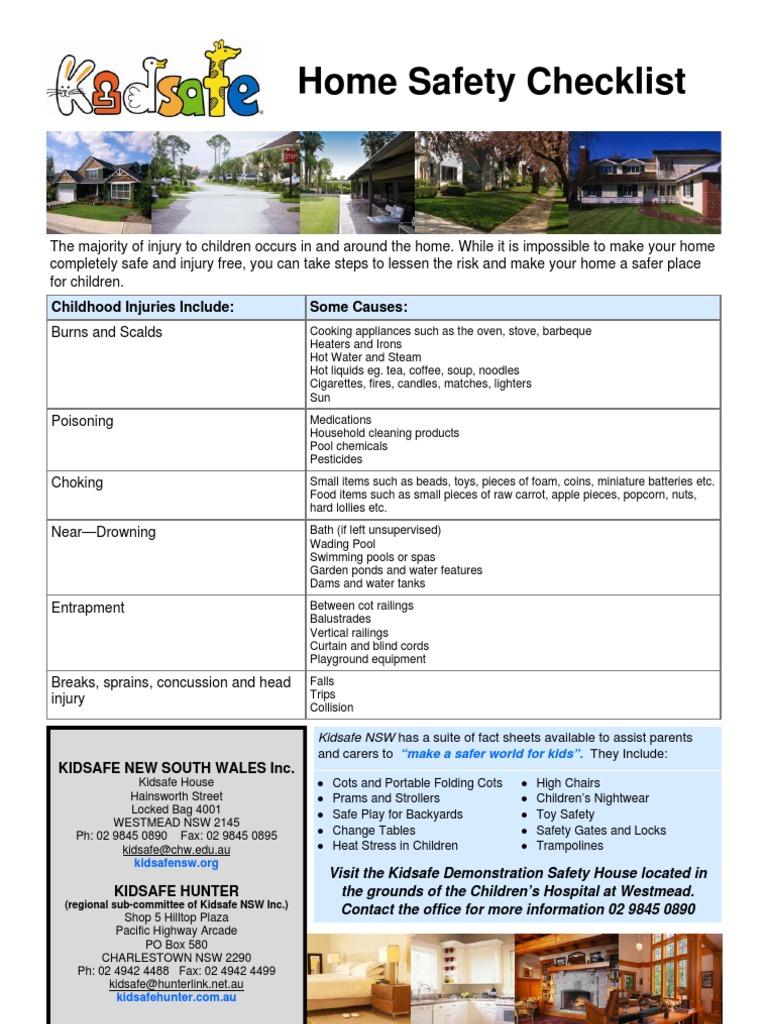 home safety checklist may 2009 kitchen bathroom