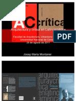 Critica de Arquitectura en La Ti No America BA 2011