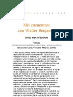 Mis encuentros con Walter Benjamin - Prólogo a Contemporaneidad latinoamericana JMB
