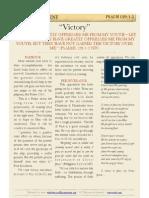 """Psalm 129 v1-2, """"Victory"""""""