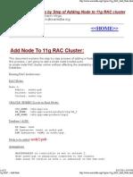 11g RAC -- Add Node