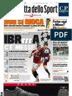 La Gazzetta dello sport del 26 agosto 2011